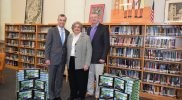 Commissioners Bannister and Sofield with Dr. W. Burke Royster, Superintendent of Greenville County Schools